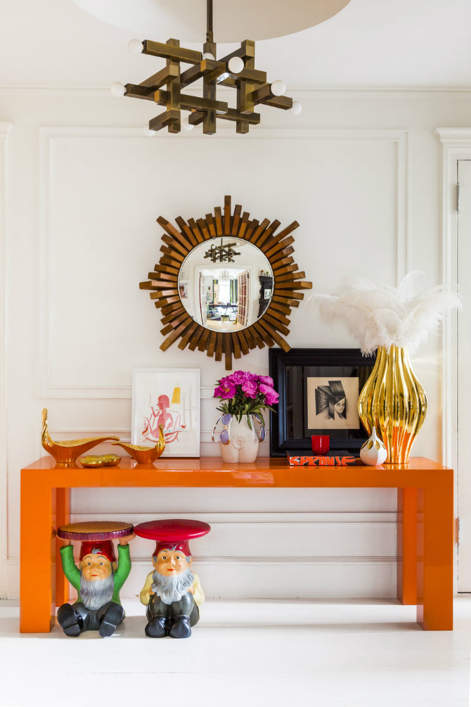 Orange Console Table  jonathan adler BEST MODERN CHIC CONSOLES BY JONATHAN ADLER Wrb9QOXJD9Sx
