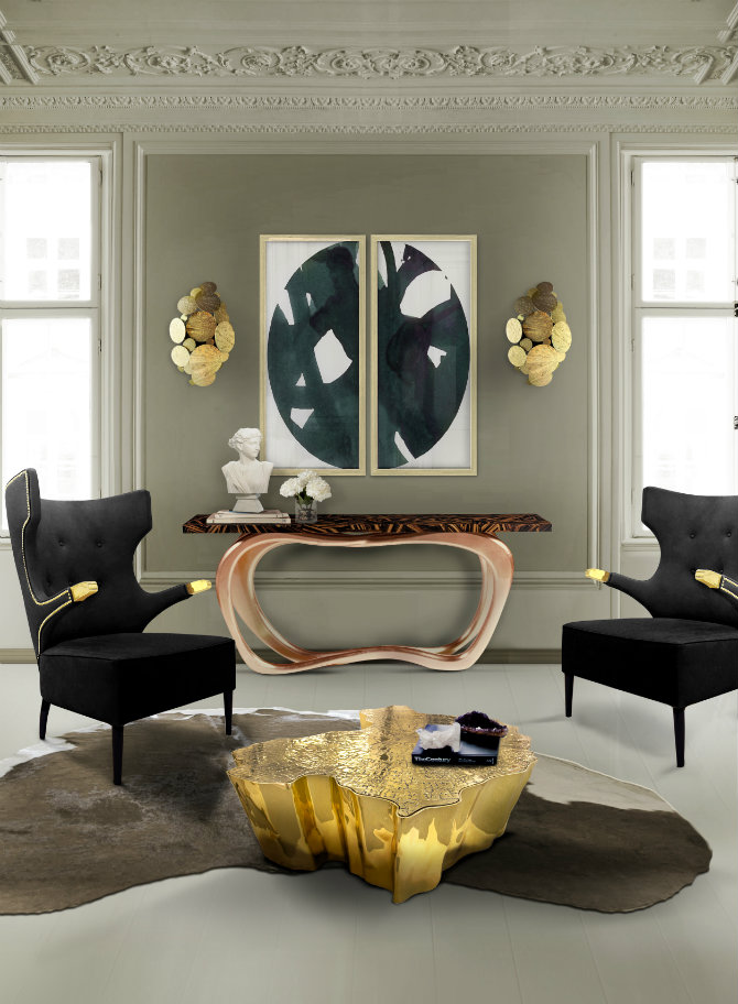 Contemporary console tables by Boca do Lobo modern console table Modern Console Table Design for a Living room eden center table boca do lobo 09