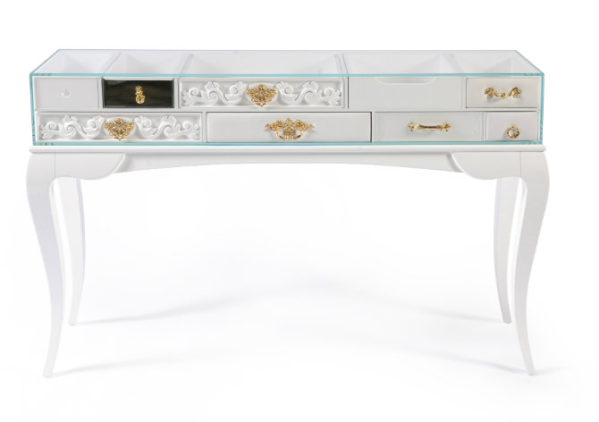 White Console Table by Boca do Lobo
