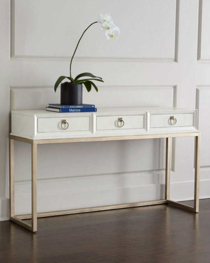 White console table with flowers white console tables Modern White Console Tables 145046294647172098 daisy console