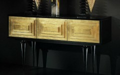 Gold Console Table with drawers