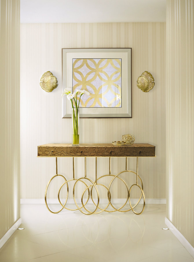 Elegant console table