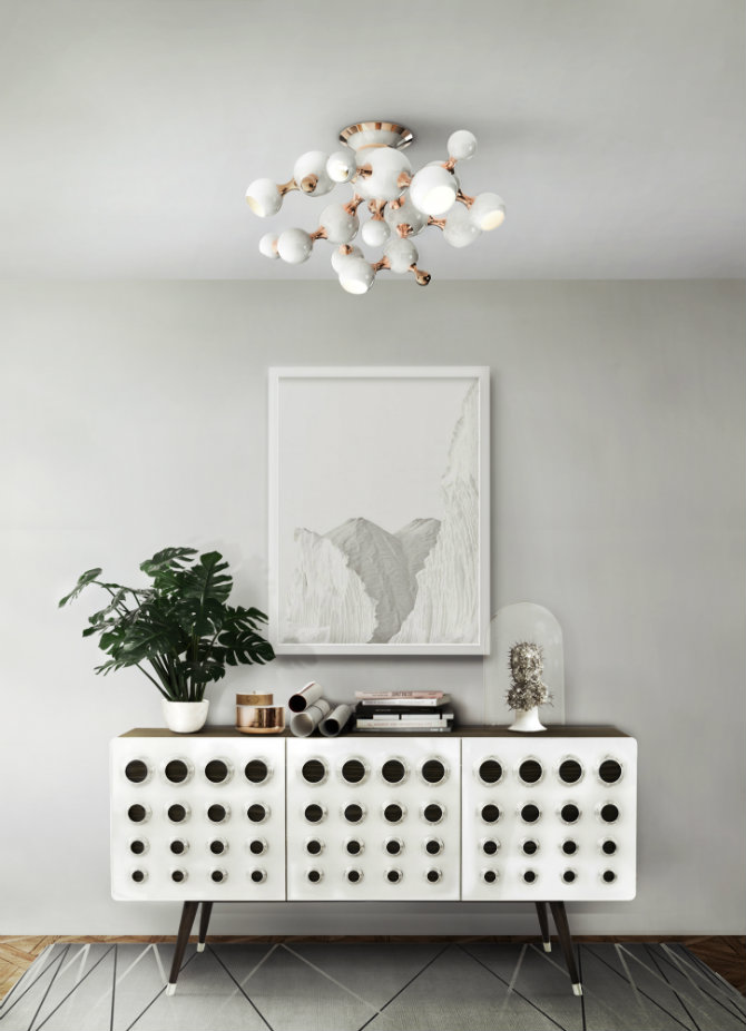 metal console table metal console tables Spring Trends 2016: Metal Console Tables delightfull atomic sputnik modern living room multi light sphere chandelier 02