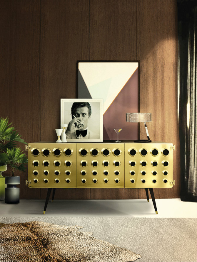 Brass console table