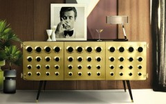 Gold Console Table made in brass
