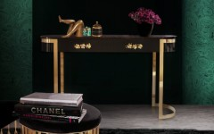 Black Console Table by Koket