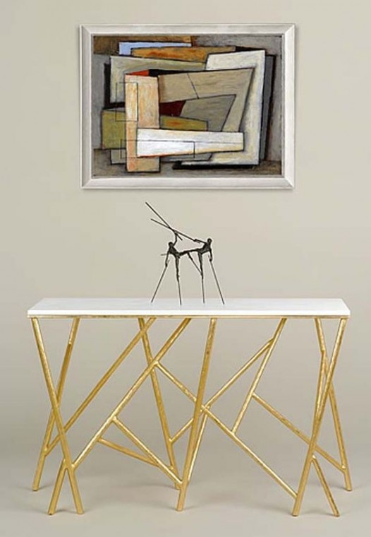 10 stunning gold and white console table designs - Table console rallonge ...