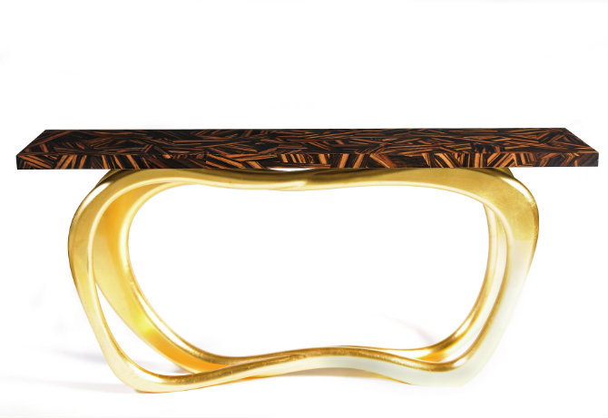 Infinity Gold Console Table by Boca do Lobo console table 5 Console Tables With Golden Details infinity gold