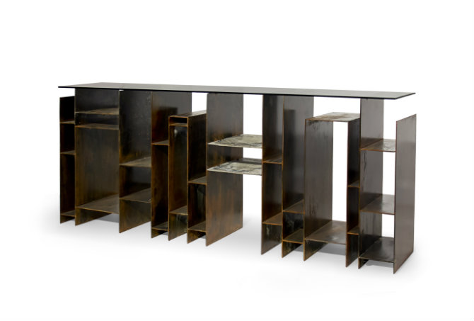 Contemporary console table by Brabbu Modern console tables Modern console tables by Brabbu kyan console 1 HR