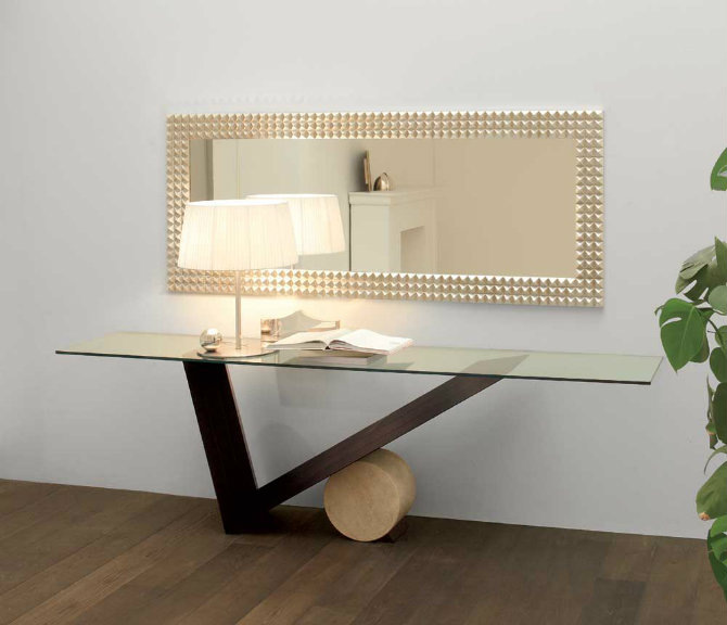 Gentil Modern Glass Console Table