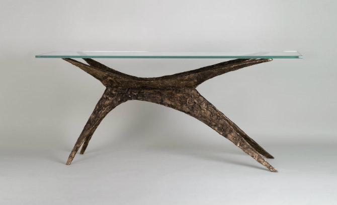 Polaris contemporary console table by Adam Williams Design