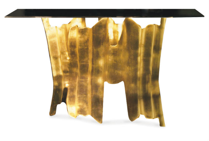 Obssedia golden console table by Koket console table 5 Console Tables With Golden Details obssedia console 1