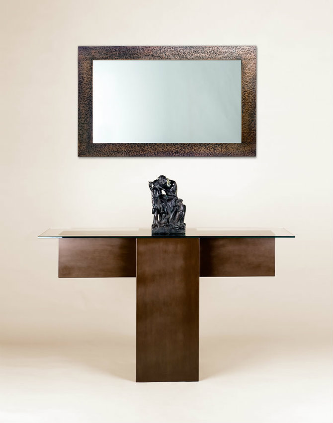 Abstract Console Table made in wood by Adam Williams Design