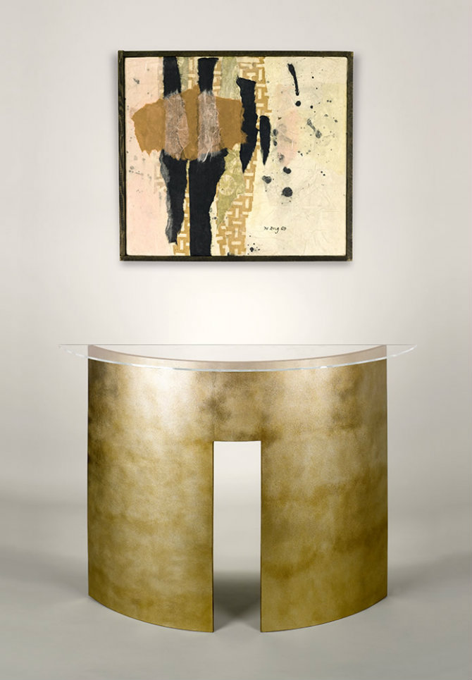 Abstract Curved Console Table by Adam Williams