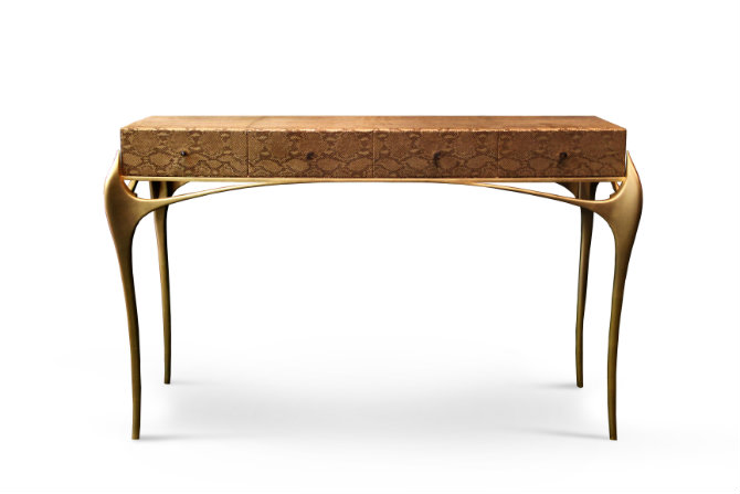 wooden console table modern console tables Modern Console Tables for Exclusive Living Rooms temptation console 1