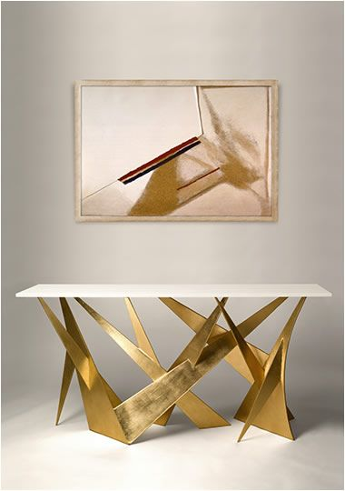 10 Stunning Gold and White Console Table Designs