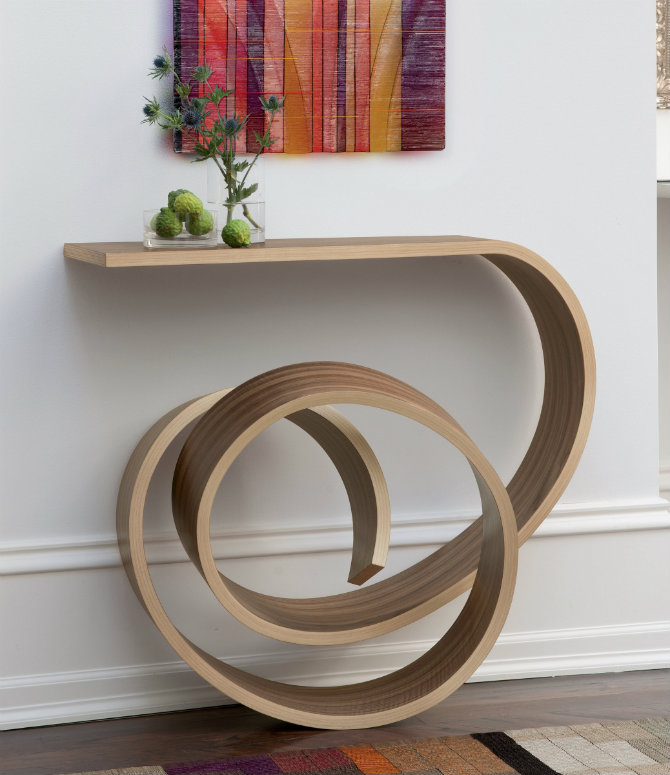 Modern wood console tables - Choosing contemporary sofa table ...