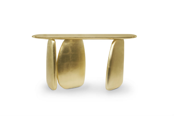 Gold console table at Salone del Mobile salone del mobile Design Trends for Salone Del Mobile 2016 ardara console 1 HR