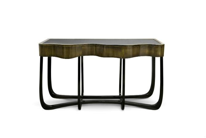 Console Table by Boca do Lobo modern console table Boca do Lobo showcases modern console tables at Salone del Mobile sinuous patina console boca do lobo 01