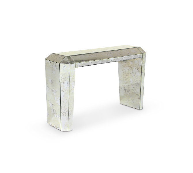 koket tamara console mirrored console table Mirrored Console Table Designs for a Sophisticated Decor tamara console zoom
