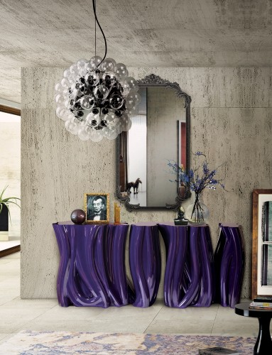 boca do lobo monochrome outdoor console table Modern Outdoor Console Table Designs for Your Summer Decor monochrome purple 04 e1462893666426