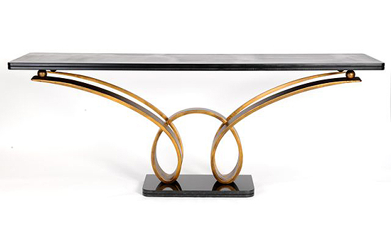 taylor llorente 10 Elegant Console Tables Designed by Taylor Llorente antique gold console m 1