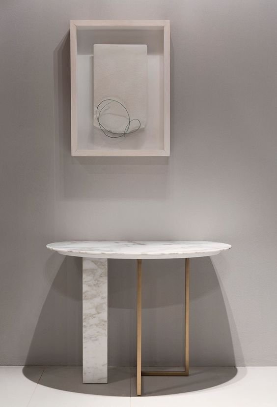 5 beautiful rounded console tables for a fresh entryway - Moderne consoles ...
