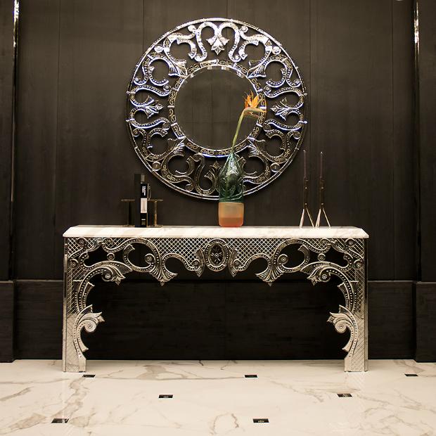 taylor llorente 10 Elegant Console Tables Designed by Taylor Llorente mirror glass console table m