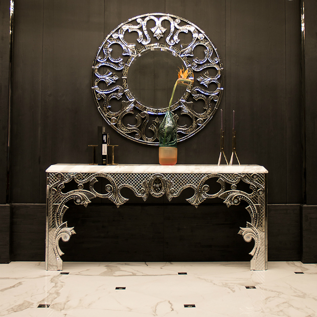 taylor llorente 10 Elegant Console Tables Designed by Taylor Llorente mirror glass console table m