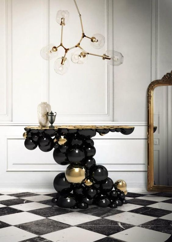 Newton Console Table by Boca do Lobo black and gold newton console table Black and Gold Newton Console Table by Boca do Lobo 28eee90d3608095645a9ba02749e8c8f