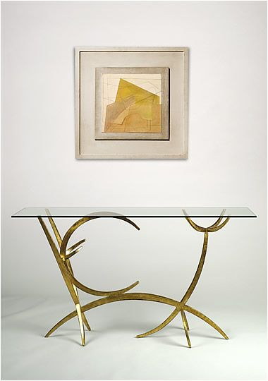 Adam Williams Console Tables in Metal Leaf console tables in metal leaf 9 Inspiring Console Tables in Metal Leaf Adam Williams