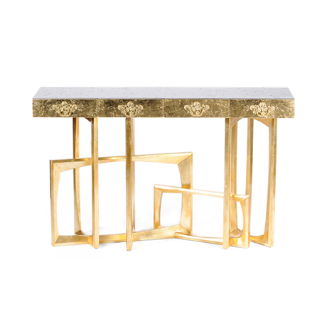 Console Tables in Metal Leaf console tables in metal leaf 9 Inspiring Console Tables in Metal Leaf Metropolis
