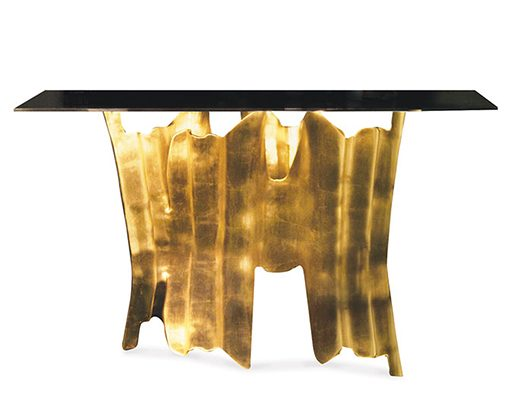 Obssedia Console Tables in Metal Leaf console tables in metal leaf 9 Inspiring Console Tables in Metal Leaf Obssedia e1467383934209
