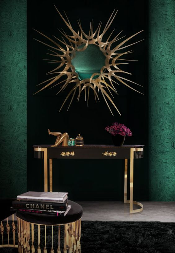 Orchidea Console Table by KOKET black and Gold Console Table The Black and Gold  Floral Orchidea Console Table by KOKET adae4f9779ce8cf9c48f7678eca74e54