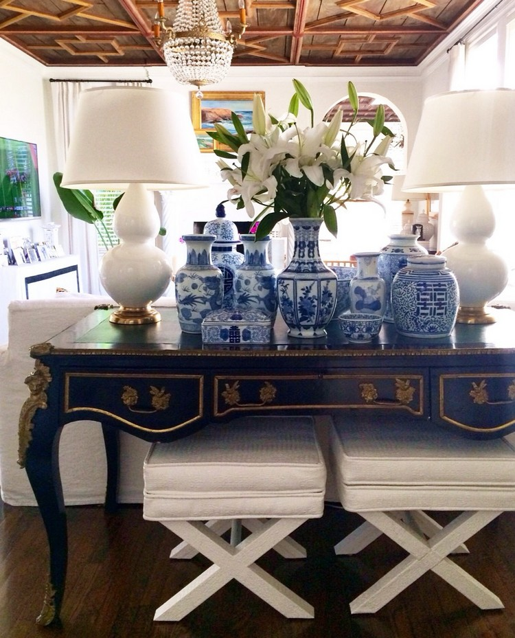 blue console tablesPalm-Beach-Style-2 blue console table 7 Amazing Blue Console Tables blue console tablesPalm Beach Style 2