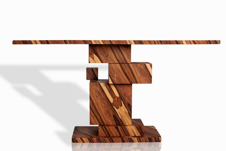 console table console table Incredible Wood Console Table From Alma Collection consoleamarist alma collection console table mirror furniture designboom 01