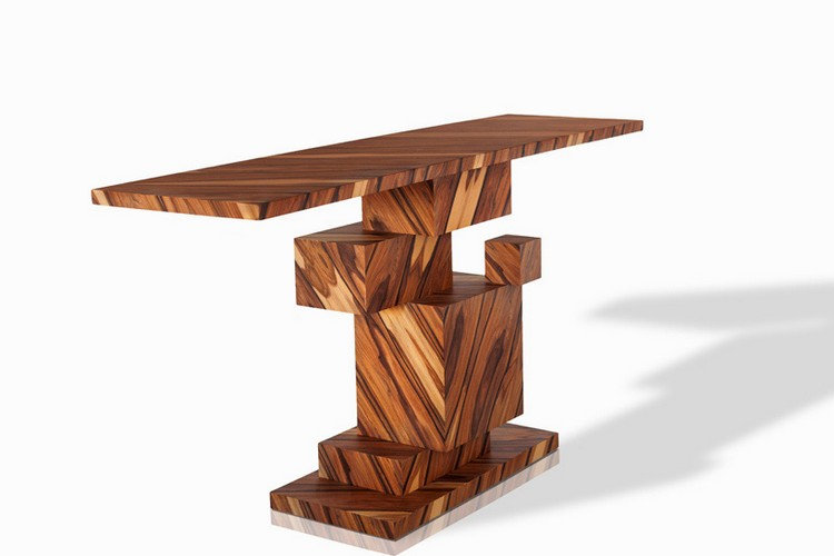 wood console table Incredible Wood Console Table From Alma Collection consoleamarist alma collection console table mirror furniture designboom 02