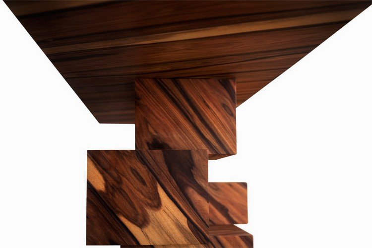 wood console table Incredible Wood Console Table From Alma Collection consoleamarist alma collection console table mirror furniture designboom 11