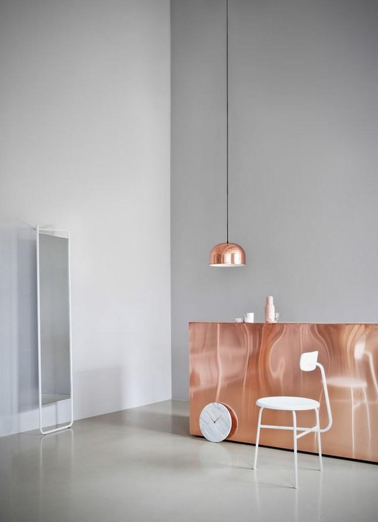 copper console tables