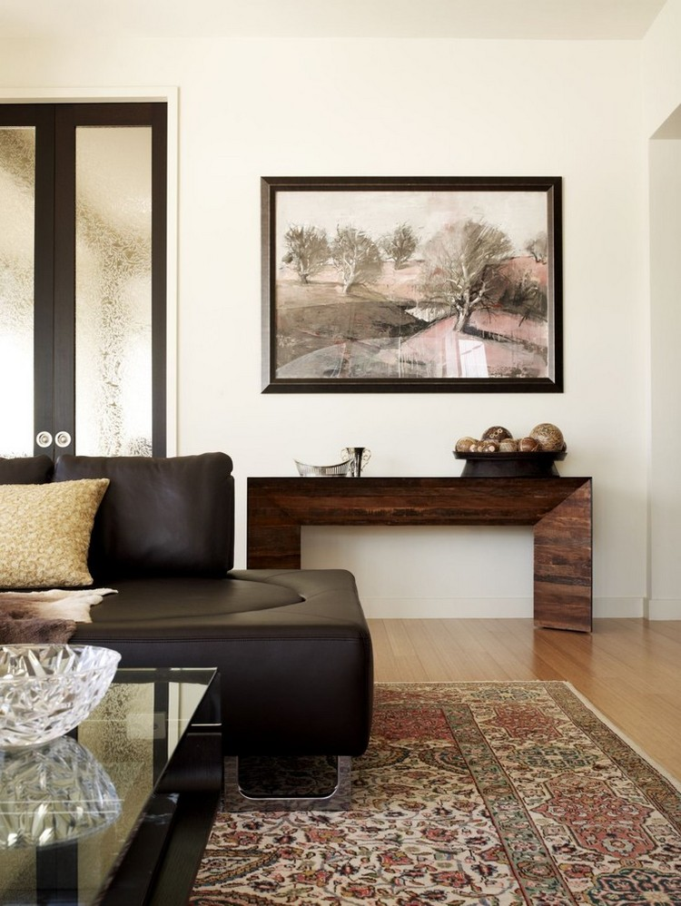 hwo to style console tables modern console table How To Style Modern Console Tables hwo to style console tablesmodern wood solution for a living room