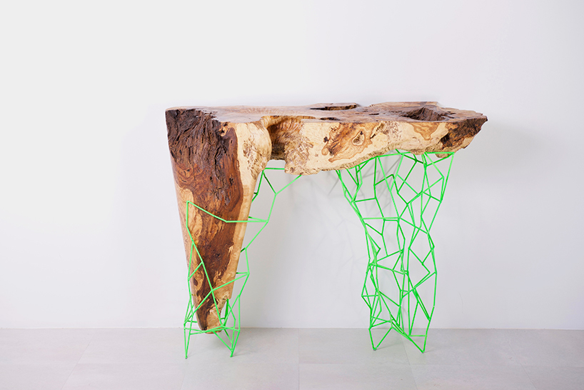 maximo-riera-millennial-console-collection-designboom01 console tables Amazing Console Tables From Ancient Trees by Maximo Riera maximo riera millennial console collection designboom01