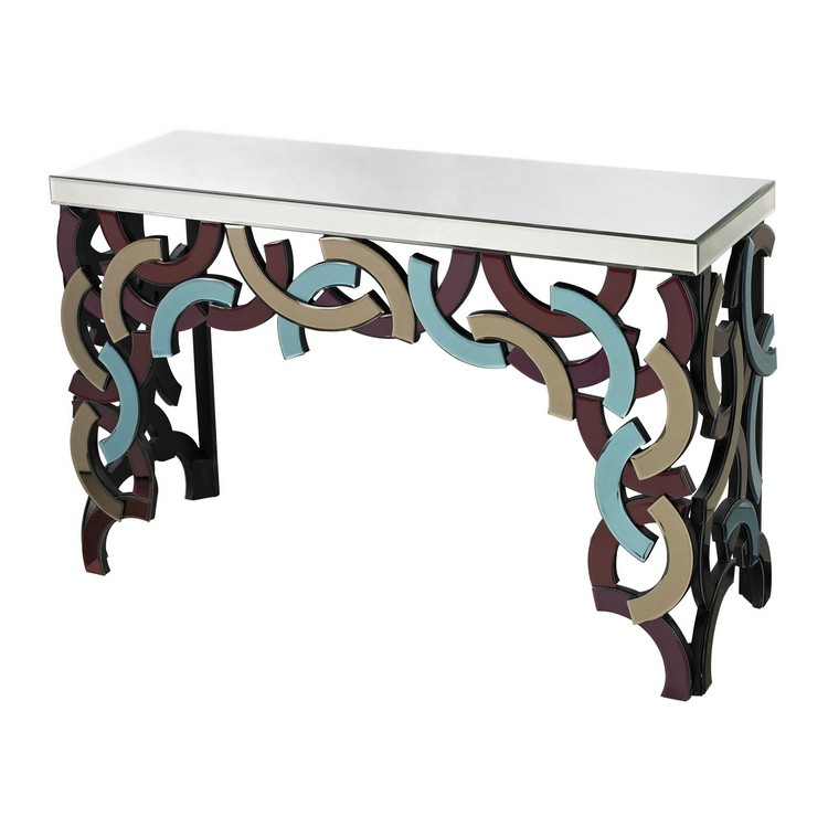 mirror Sterling-Industries-Glass-Console-114-69 mirrored consoles Mirrored Consoles to Enlarge Your Interior mirror Sterling Industries Glass Console 114 69