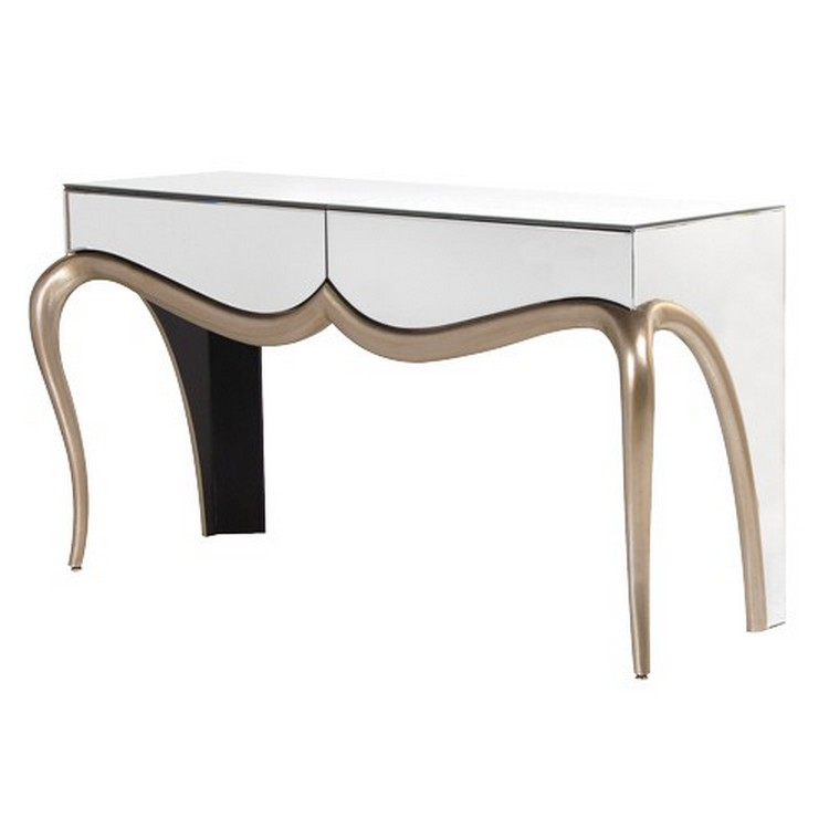 mirror consoles mirrored consoles Mirrored Consoles to Enlarge Your Interior mirror gua048