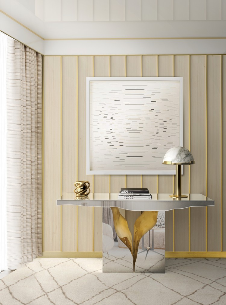 mirrored consoles mirrored consoles Mirrored Consoles to Enlarge Your Interior mirror lapiaz console