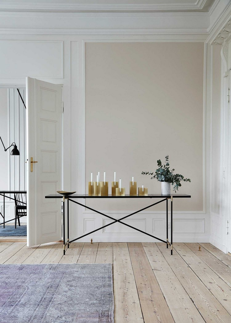 console table  console table Modern Console Table Ideas for Pastel Interiors pastel Brass console Handvark Yellowtrace 13