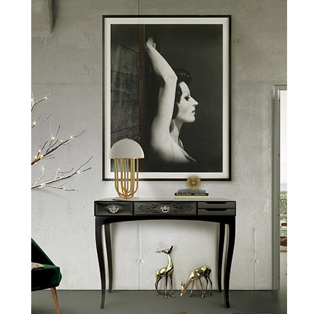 Soho Console Table by Boca do Lobo Contemporary Console Table The Soho is a Contemporary Console Table with Classic Design Elements soho console black 04