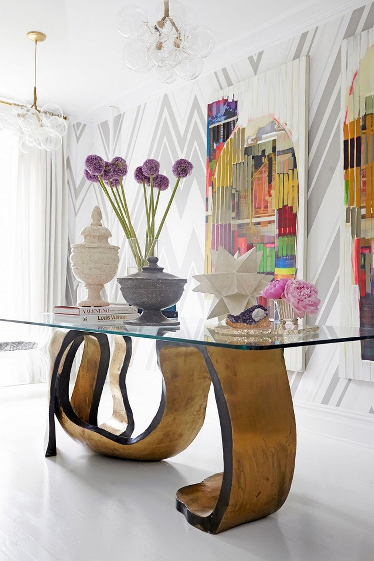 glass top Statement console tables Statement Console Tables For Your Entryway statement main