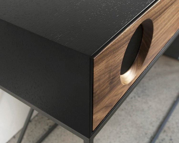 stereo Black_Finish_Detail_Edit_1024x1024 console table Symbol Stereo Console Table Has An Audio Component stereo Black Finish Detail Edit 1024x1024