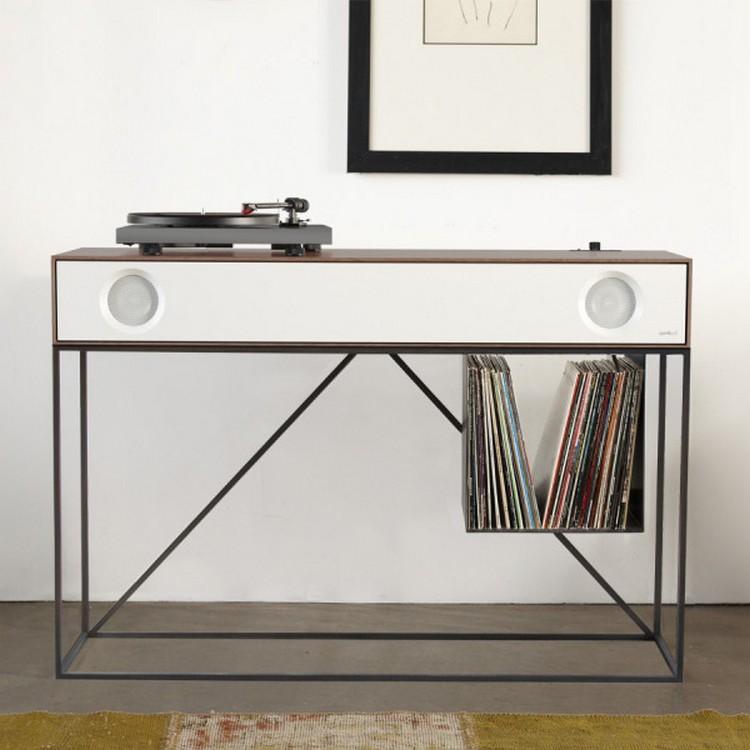console table console table Symbol Stereo Console Table Has An Audio Component stereo SYMBOL Stereo Console SCT WW Sq