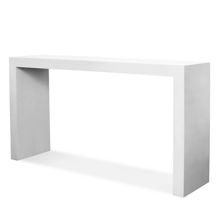 Glamorous console tables by jonathan adler for Modern white lacquer console table